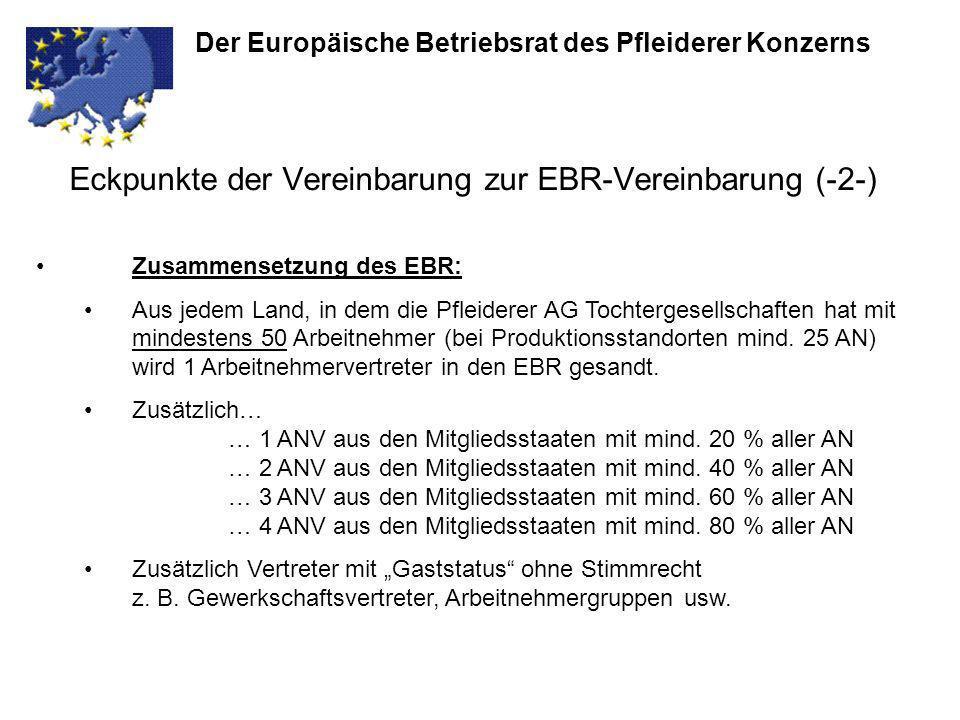 Eckpunkte der Vereinbarung zur EBR-Vereinbarung (-2-)