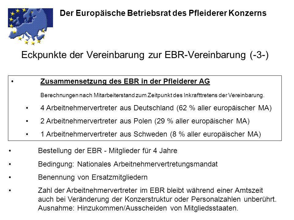 Eckpunkte der Vereinbarung zur EBR-Vereinbarung (-3-)