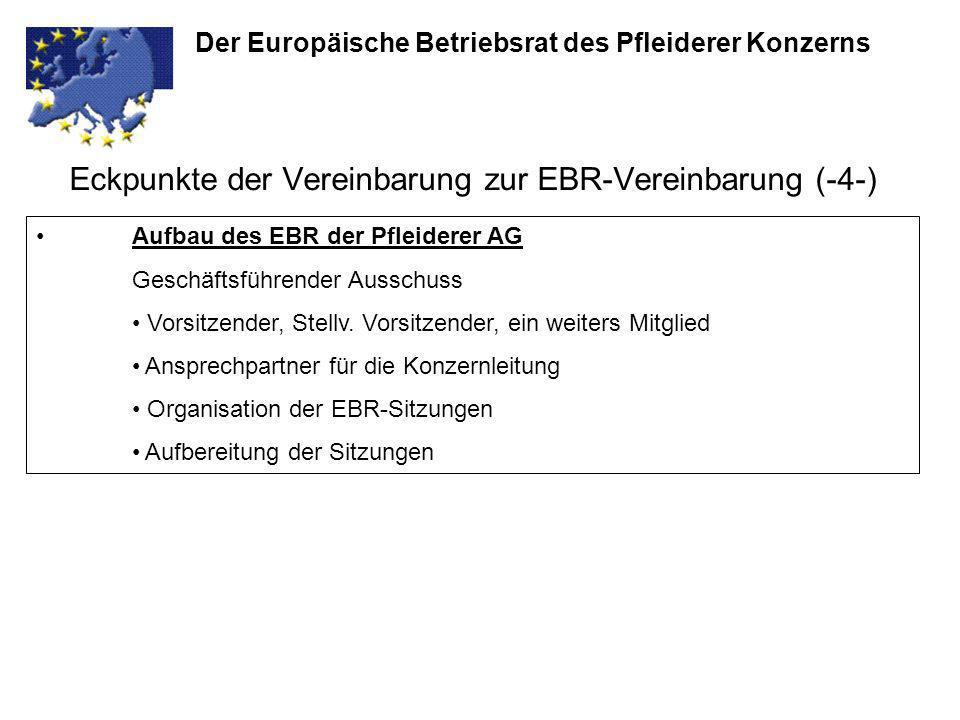 Eckpunkte der Vereinbarung zur EBR-Vereinbarung (-4-)