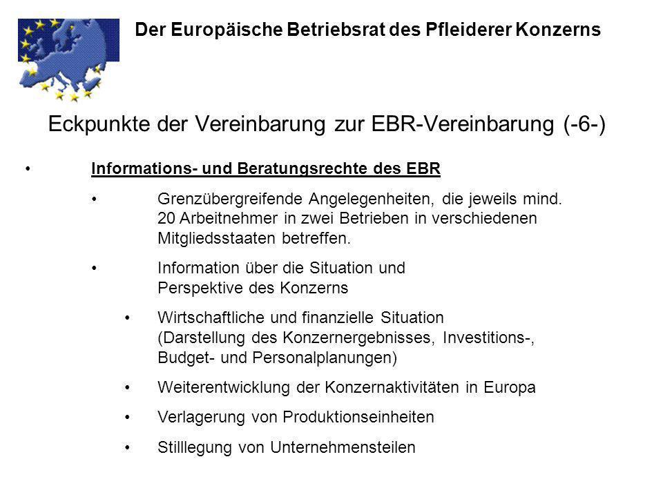 Eckpunkte der Vereinbarung zur EBR-Vereinbarung (-6-)