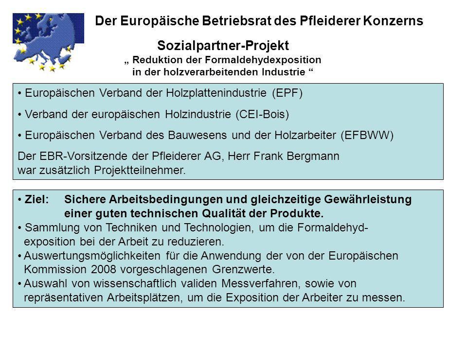 Der Europäische Betriebsrat des Pfleiderer Konzerns