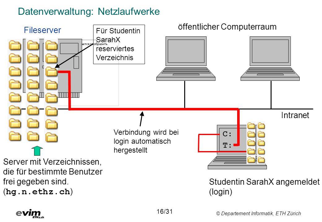 Datenverwaltung: Netzlaufwerke