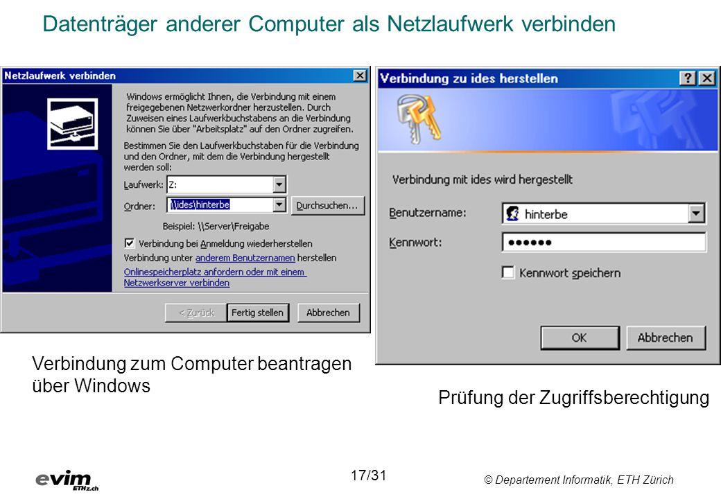 Datenträger anderer Computer als Netzlaufwerk verbinden
