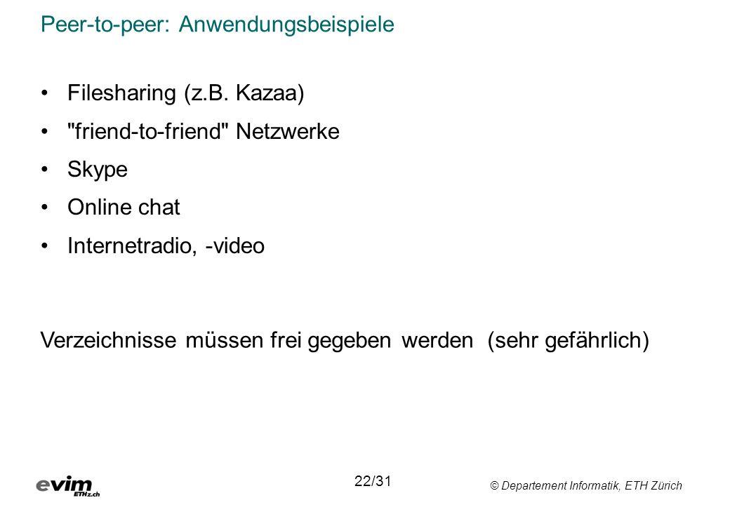 Peer-to-peer: Anwendungsbeispiele