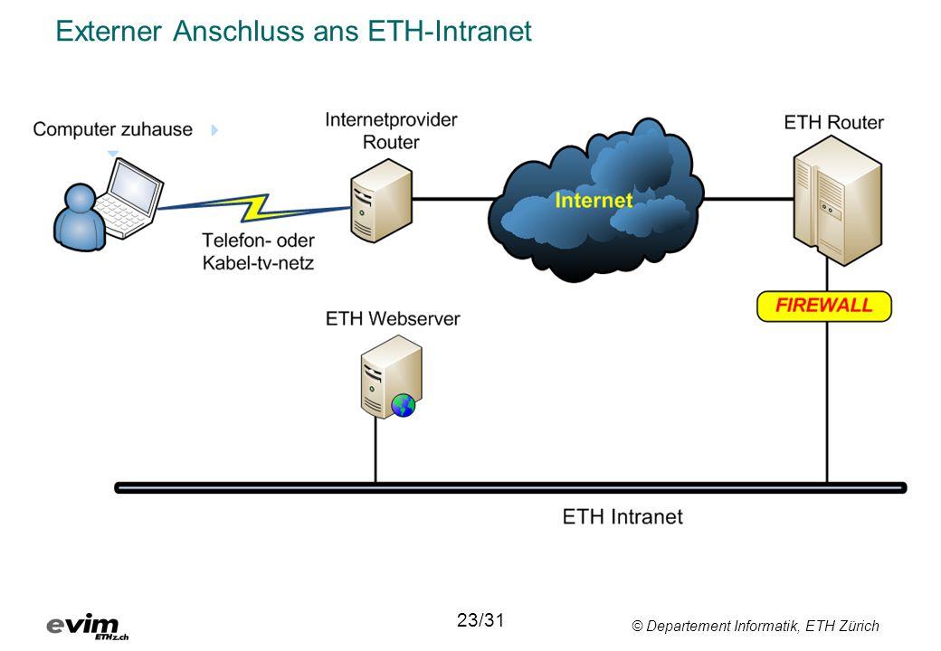 Externer Anschluss ans ETH-Intranet