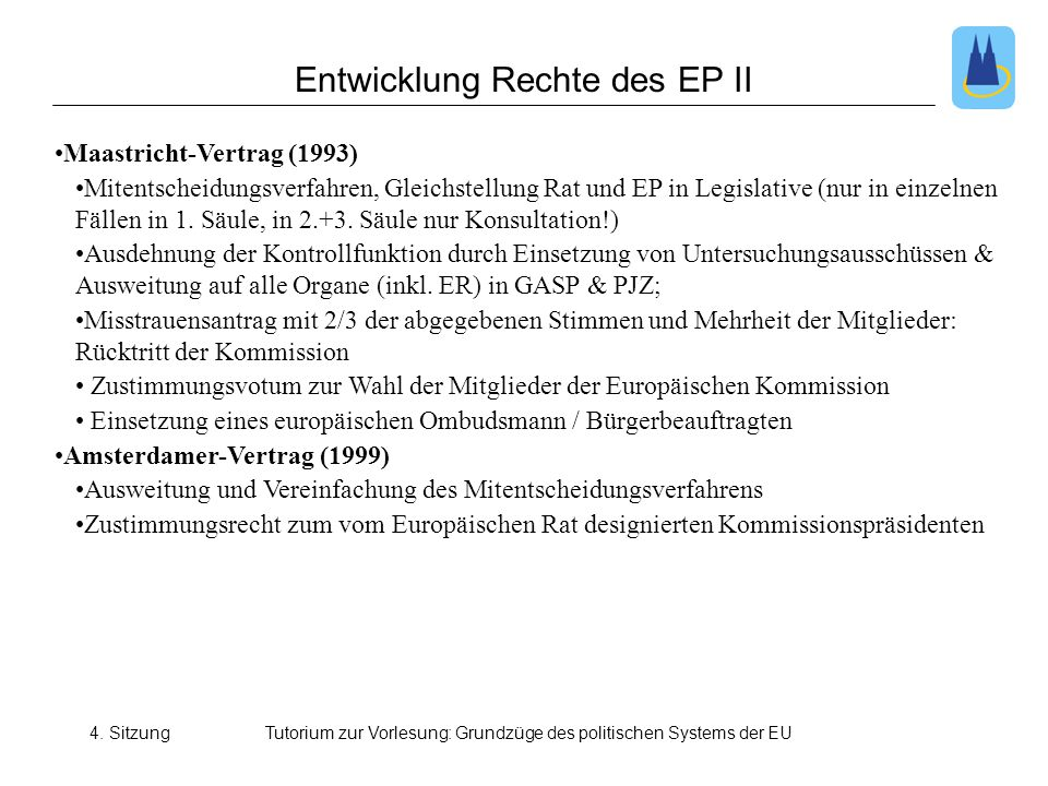 Entwicklung Rechte des EP II