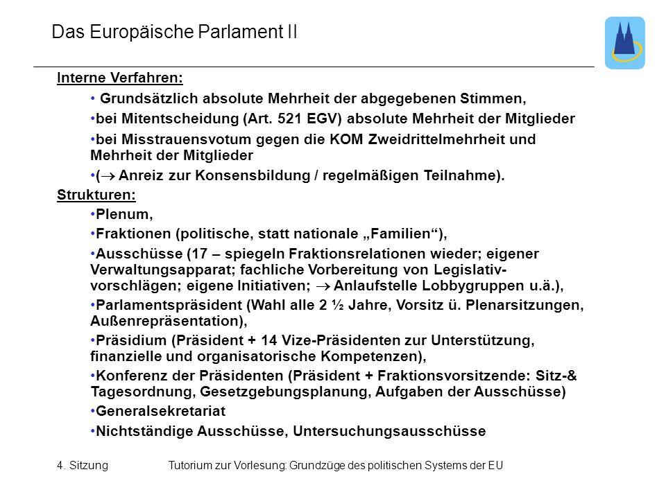 Das Europäische Parlament II