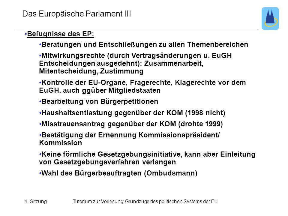Das Europäische Parlament III