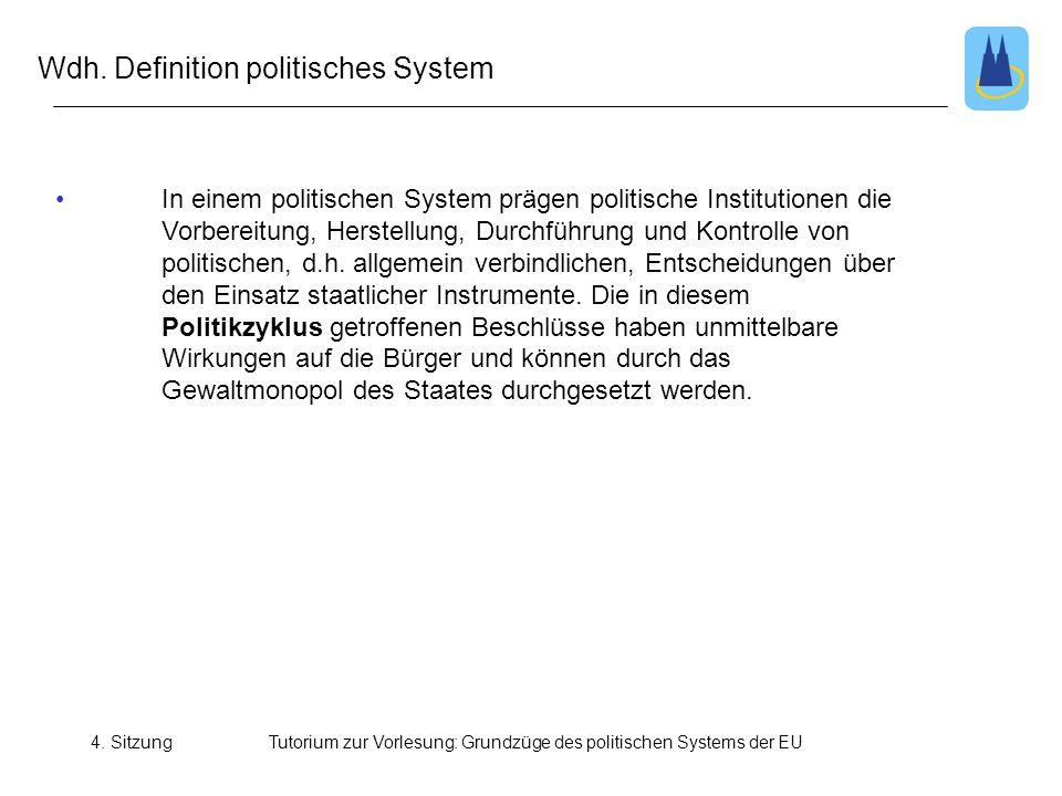 Wdh. Definition politisches System