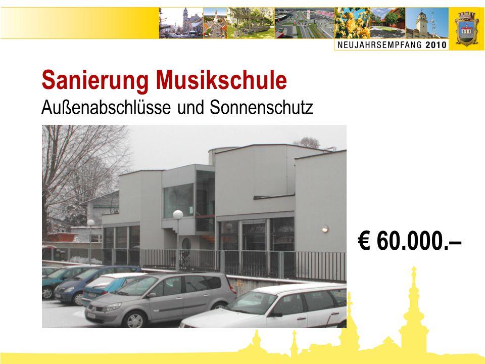 Sanierung Musikschule