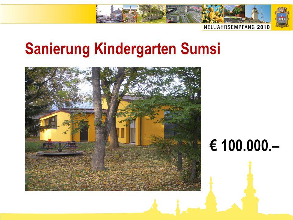 Sanierung Kindergarten Sumsi