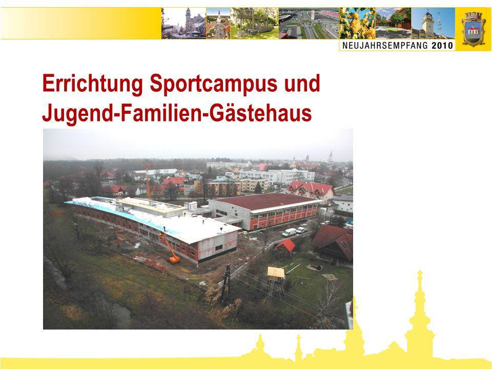 Errichtung Sportcampus und Jugend-Familien-Gästehaus