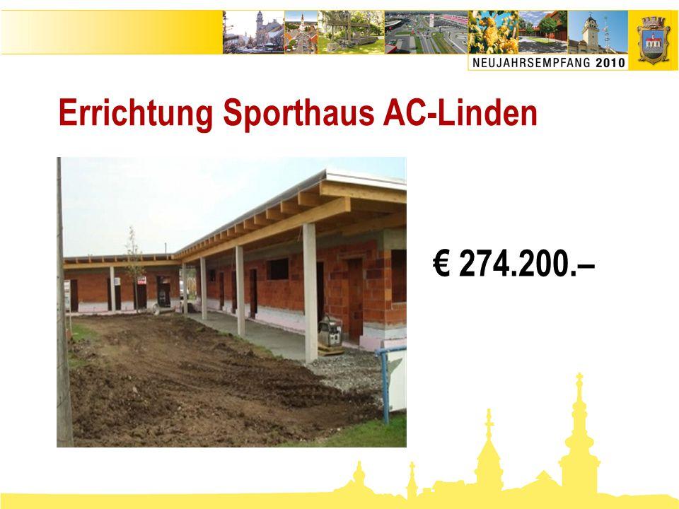 Errichtung Sporthaus AC-Linden