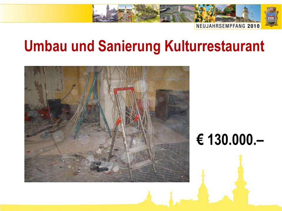Umbau und Sanierung Kulturrestaurant