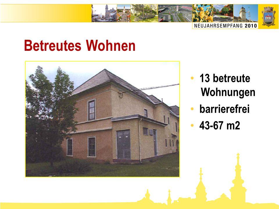 Betreutes Wohnen 13 betreute Wohnungen barrierefrei 43-67 m2