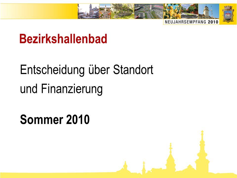 Entscheidung über Standort und Finanzierung Sommer 2010