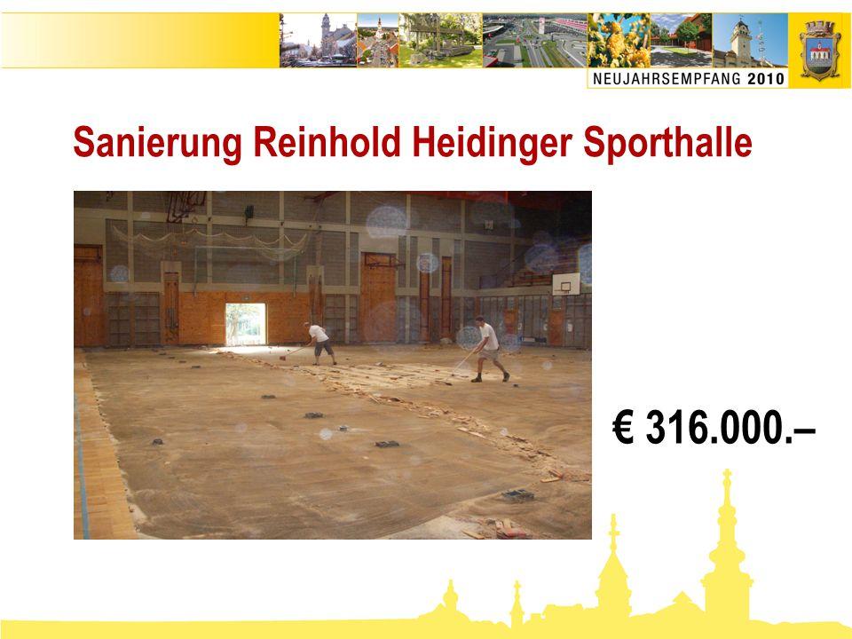 Sanierung Reinhold Heidinger Sporthalle