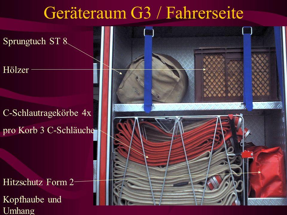 Geräteraum G3 / Fahrerseite