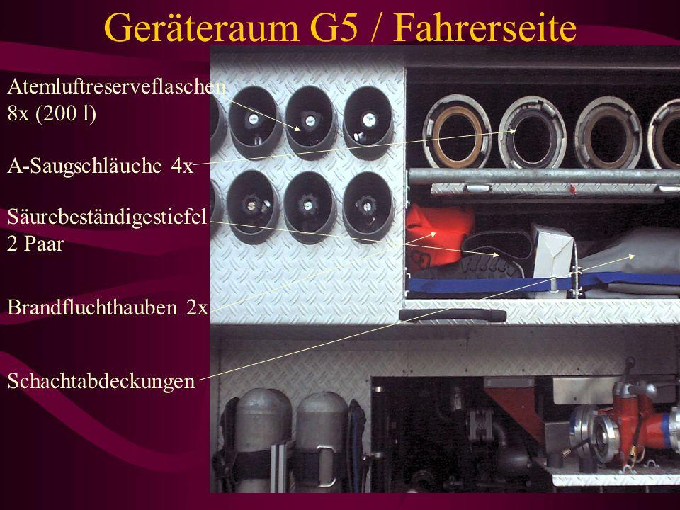 Geräteraum G5 / Fahrerseite