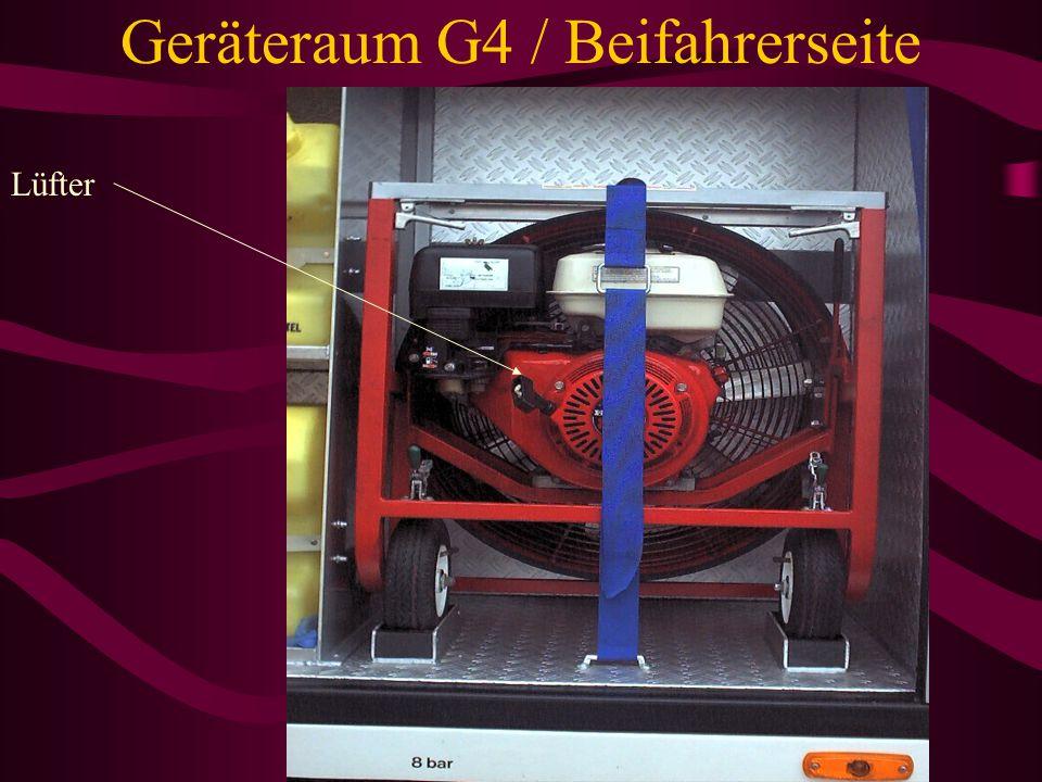 Geräteraum G4 / Beifahrerseite