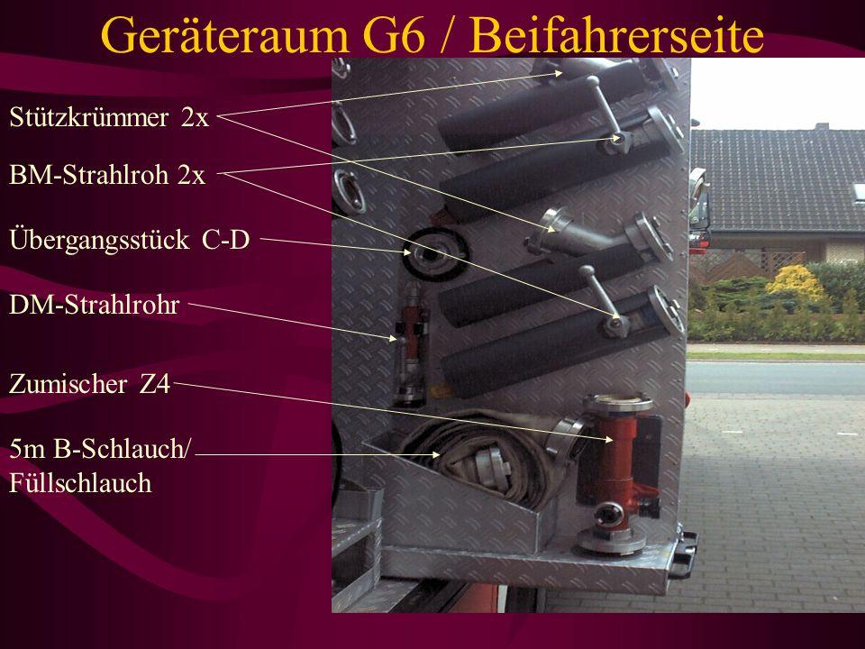 Geräteraum G6 / Beifahrerseite