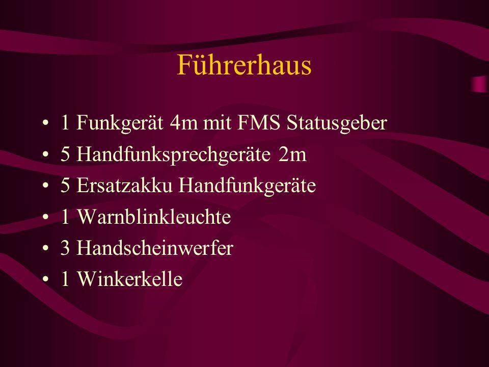 Führerhaus 1 Funkgerät 4m mit FMS Statusgeber