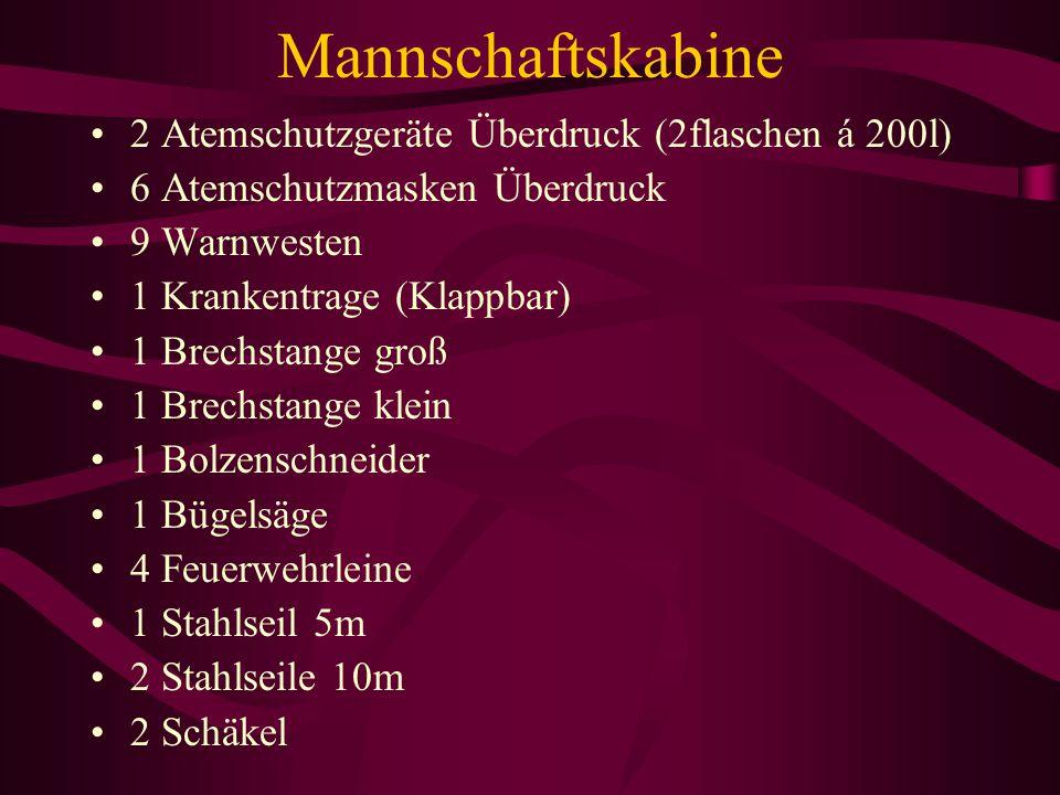 Mannschaftskabine 2 Atemschutzgeräte Überdruck (2flaschen á 200l)