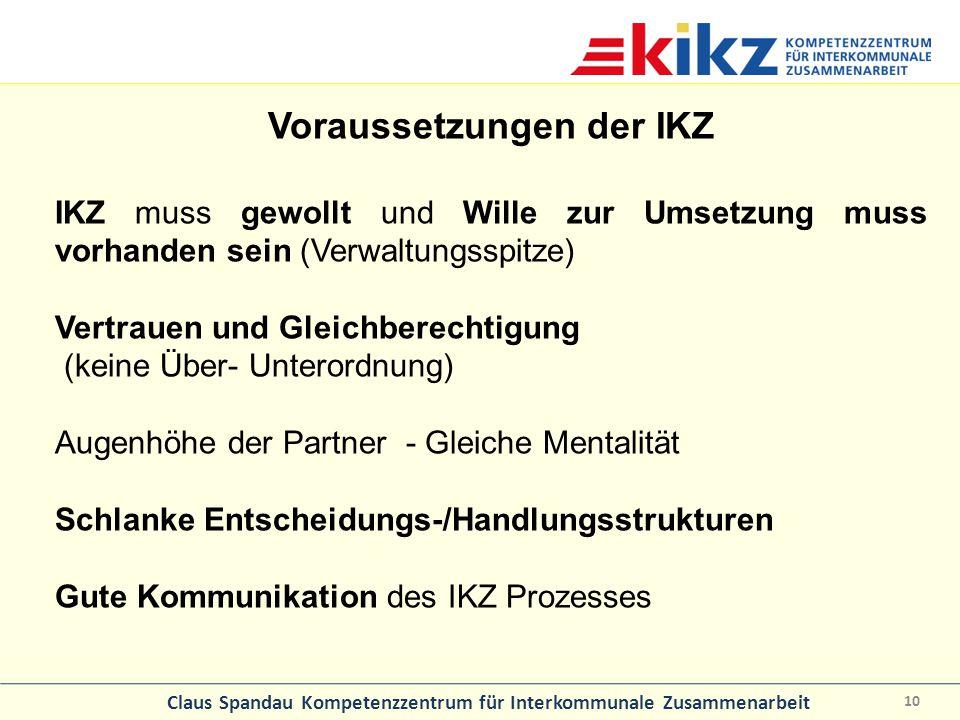 Voraussetzungen der IKZ