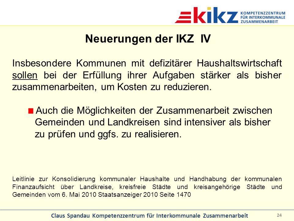 Neuerungen der IKZ IV