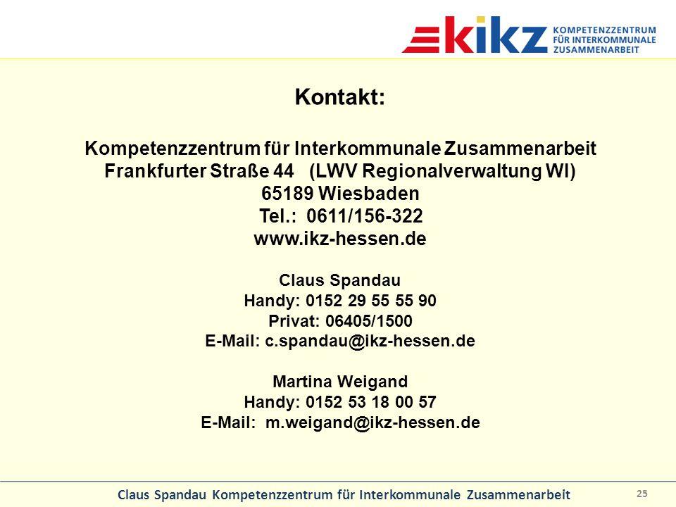 Kontakt: Kompetenzzentrum für Interkommunale Zusammenarbeit
