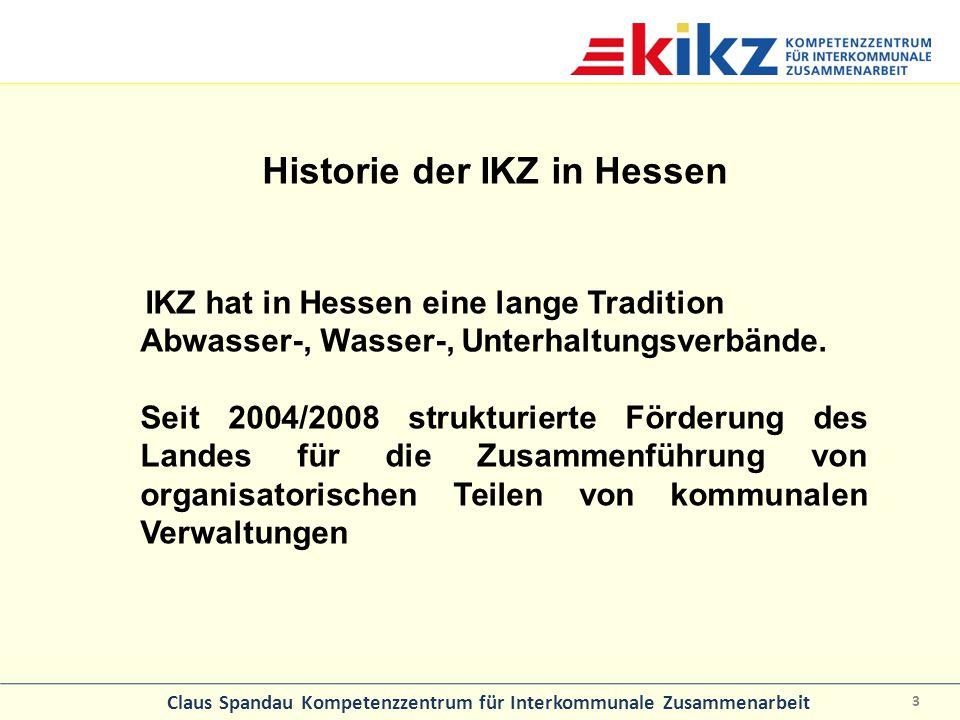 Historie der IKZ in Hessen