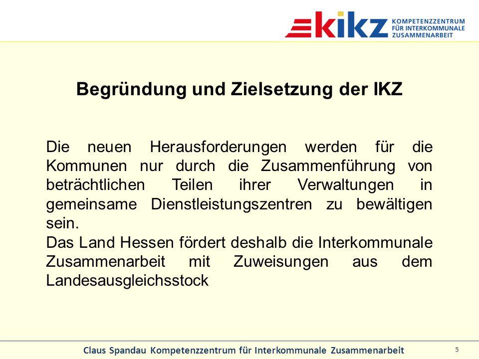 Begründung und Zielsetzung der IKZ