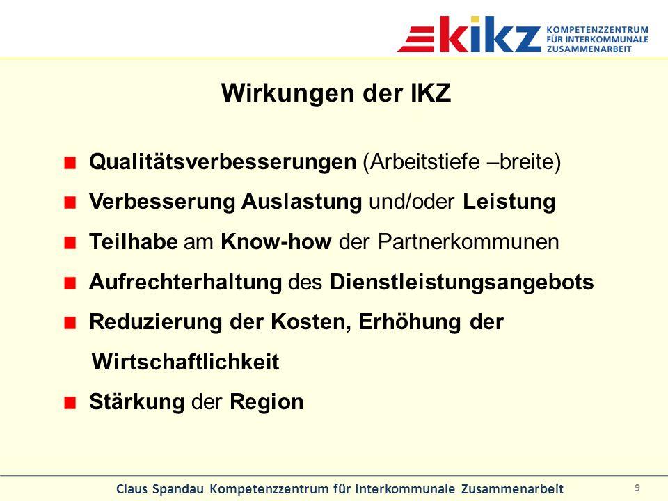 Wirkungen der IKZ Qualitätsverbesserungen (Arbeitstiefe –breite)