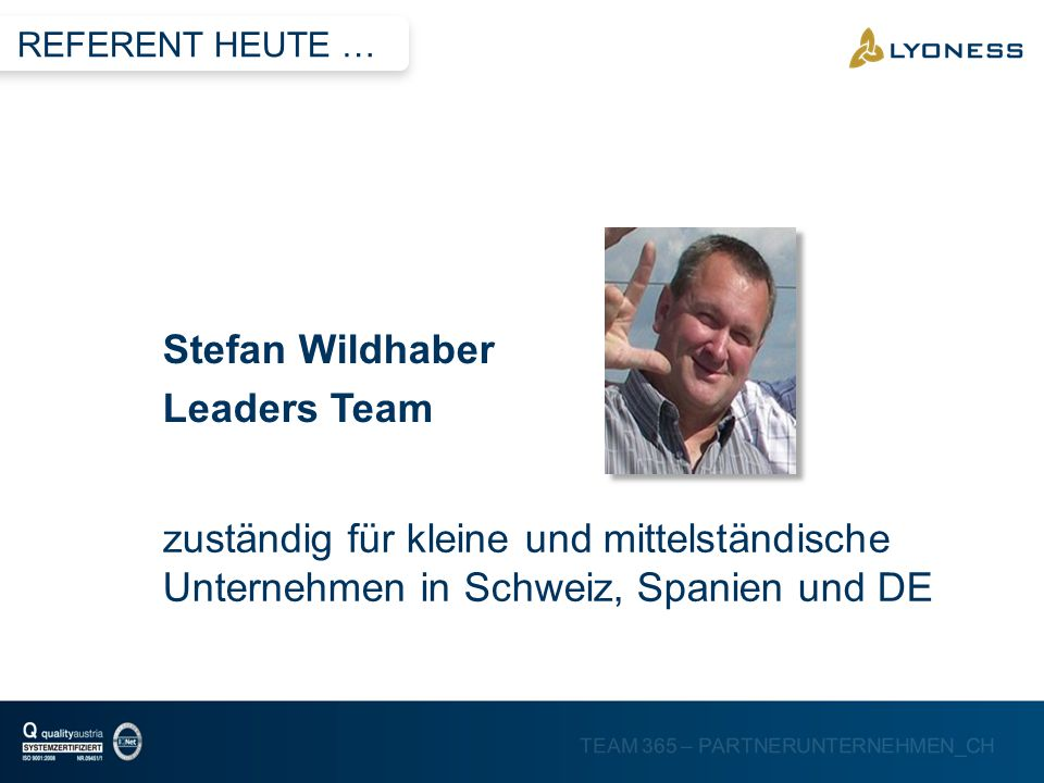 Stefan Wildhaber Leaders Team
