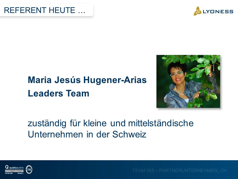 Maria Jesús Hugener-Arias Leaders Team