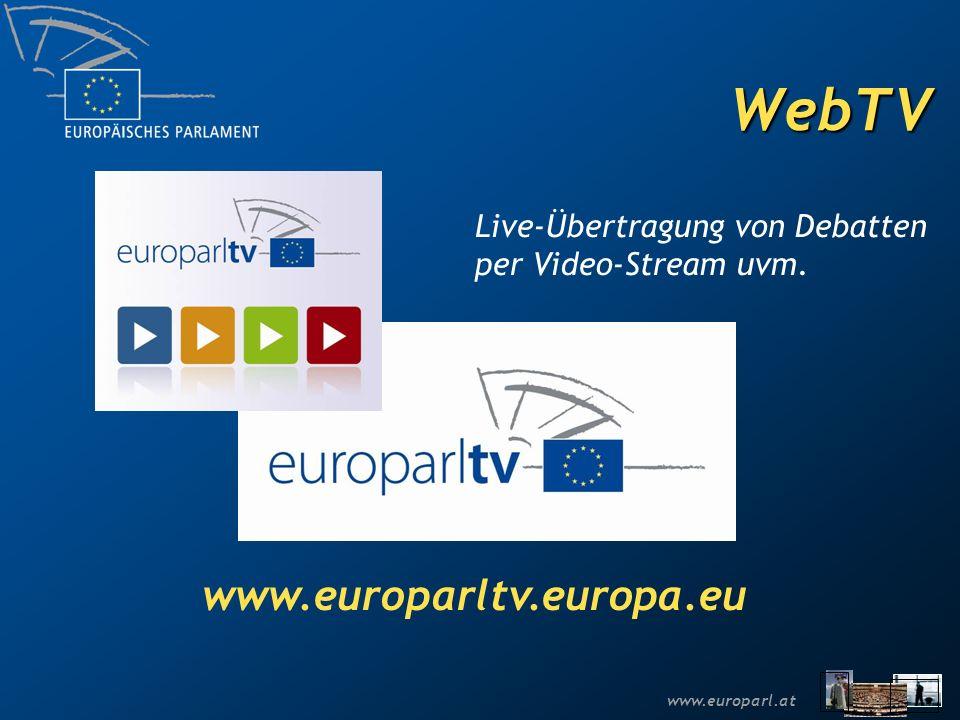 WebTV www.europarltv.europa.eu