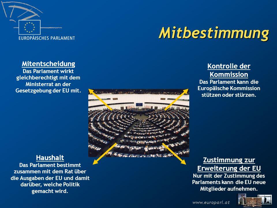 Mitbestimmung Mitentscheidung Kontrolle der Kommission Haushalt