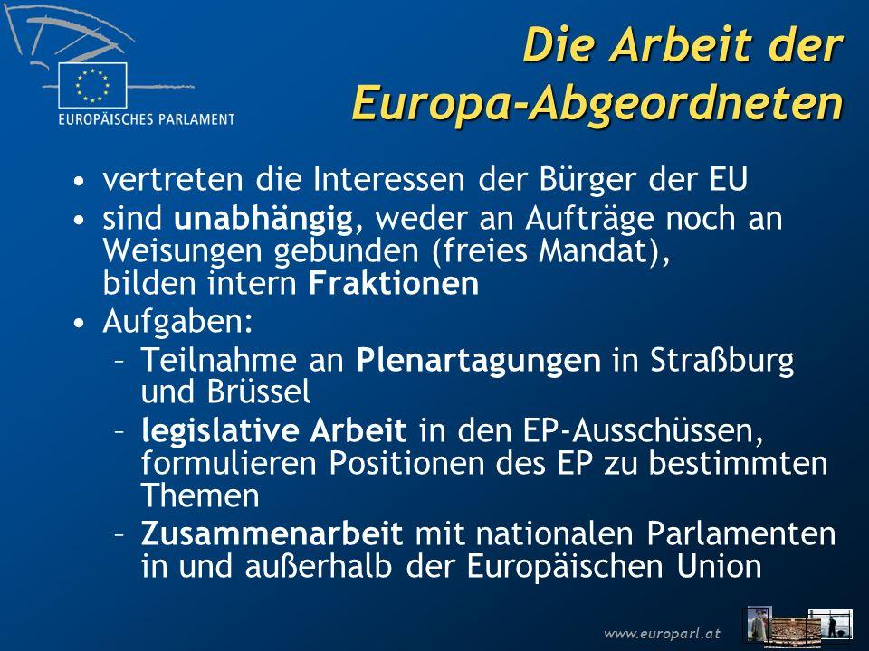Die Arbeit der Europa-Abgeordneten