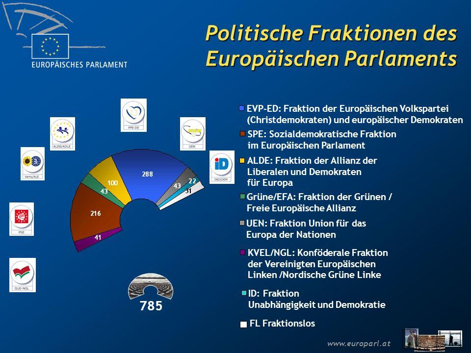 Politische Fraktionen des Europäischen Parlaments