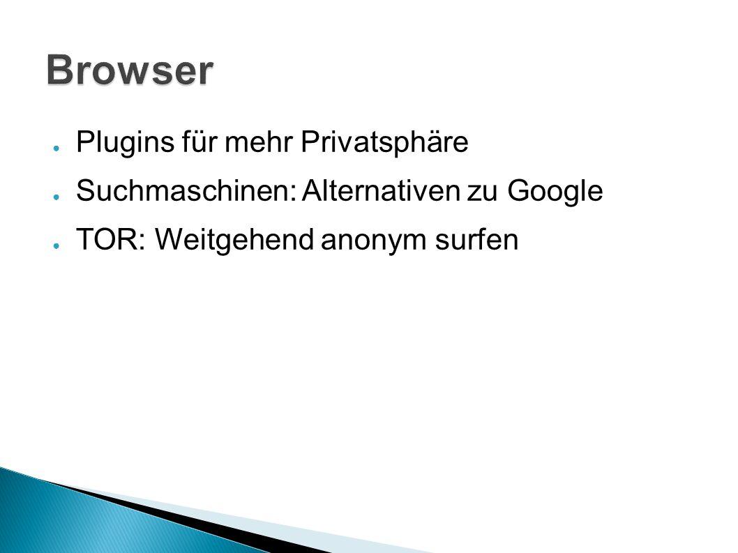 Browser Plugins für mehr Privatsphäre
