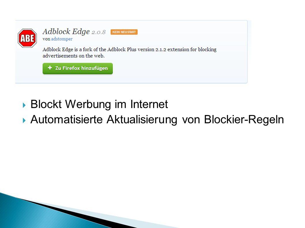 Blockt Werbung im Internet