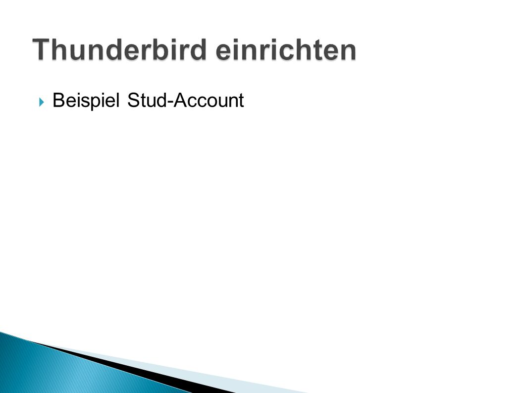Thunderbird einrichten