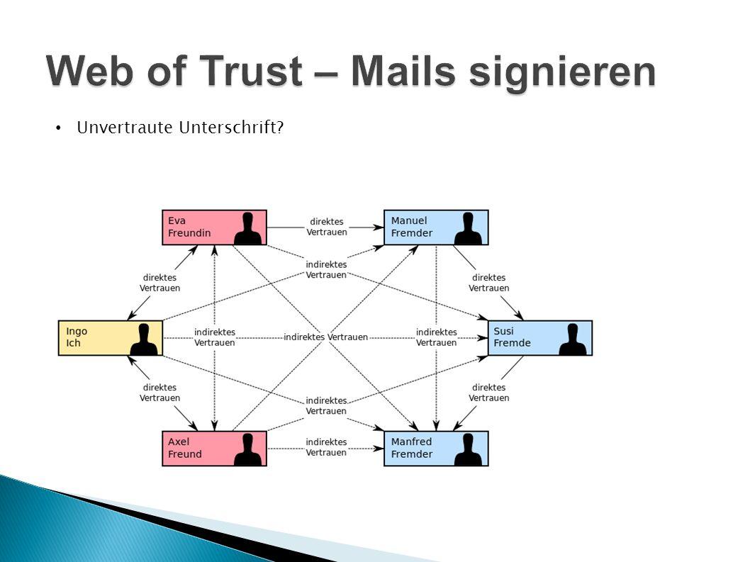 Web of Trust – Mails signieren