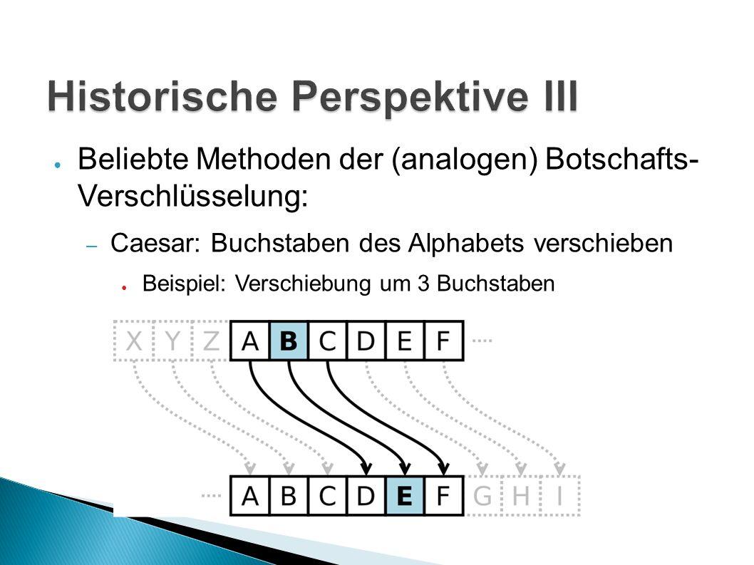 Historische Perspektive III
