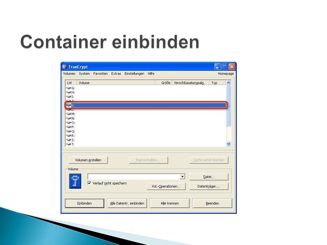 Container einbinden