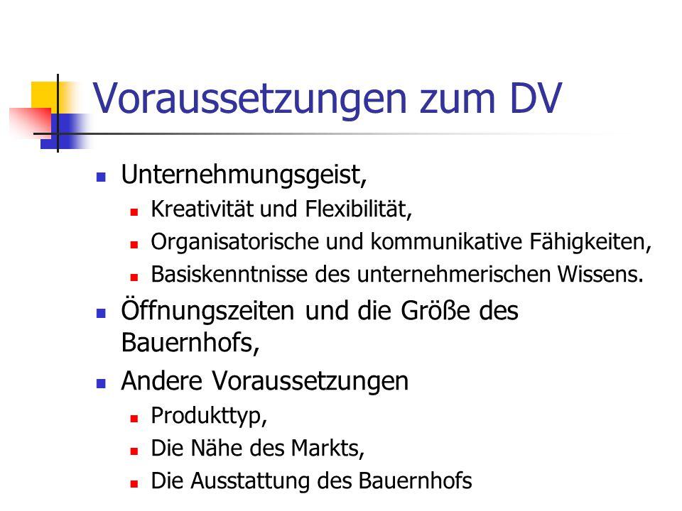 Voraussetzungen zum DV