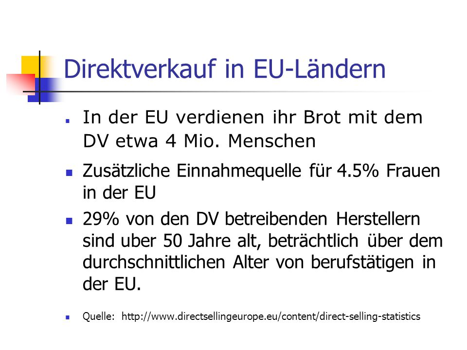 Direktverkauf in EU-Ländern