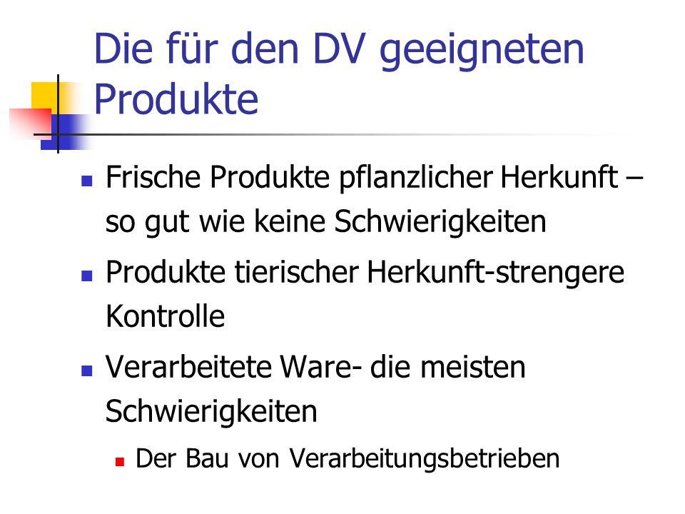 Die für den DV geeigneten Produkte