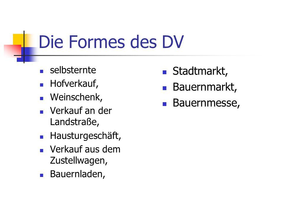 Die Formes des DV Stadtmarkt, Bauernmarkt, Bauernmesse, selbsternte