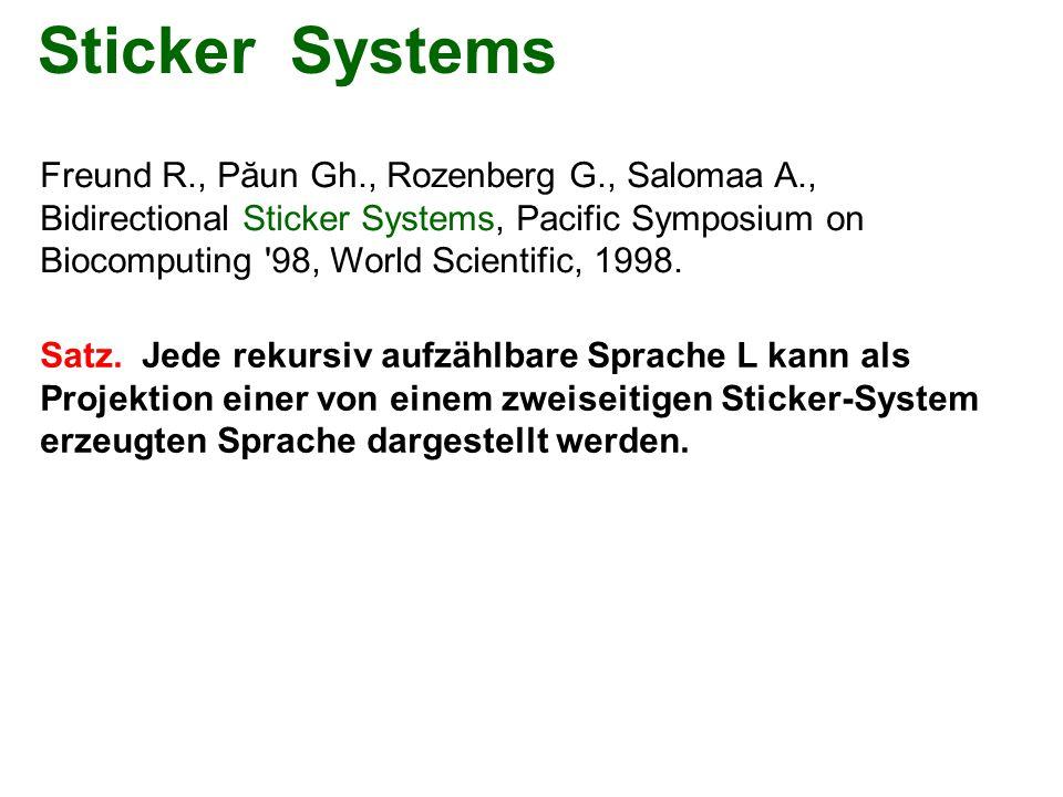 Sticker Systems Freund R., Păun Gh., Rozenberg G., Salomaa A.,